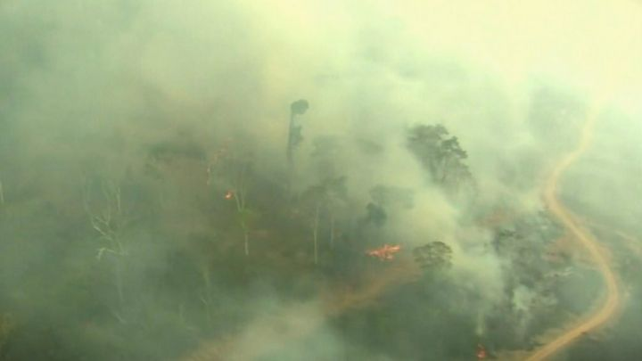 Amazon fires: The devastation seen from above