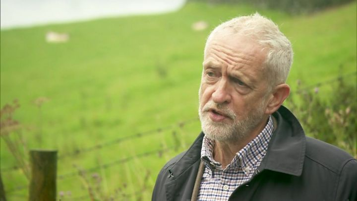 Brexit: Corbyn backs Macron on Irish backstop