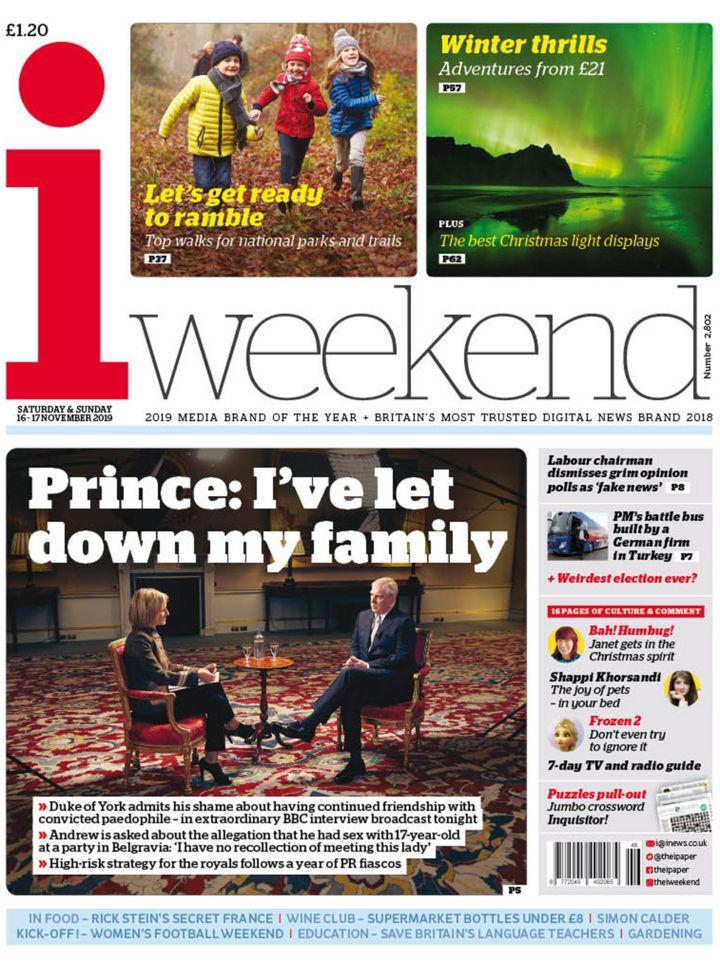 Newspaper headlines: Prince Andrew's 'extraordinary' TV interview