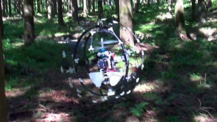 Flying insect-like robot Gimball can crash and recover