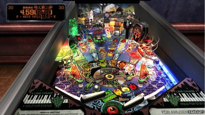 Virtual games bring pinball to new audiences - BBC News