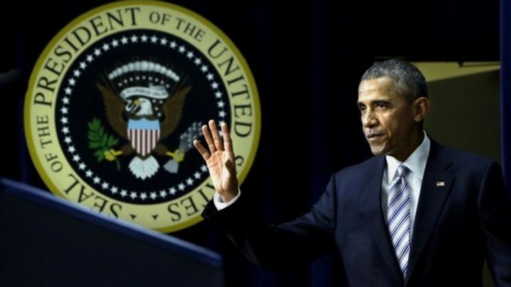 Barack Obama says US 'at war with those perverting Islam'