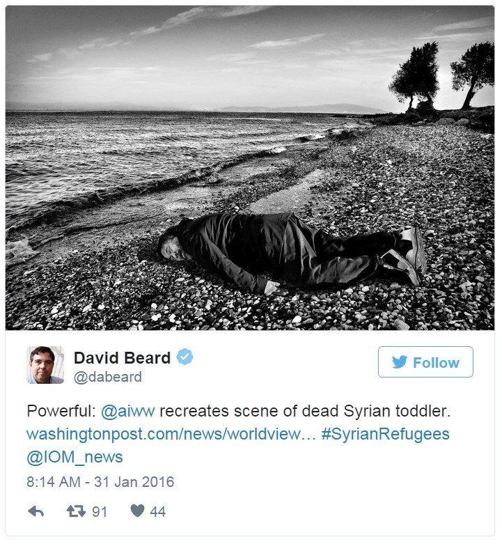 Twitter Ai Wewei Alan Kurdi