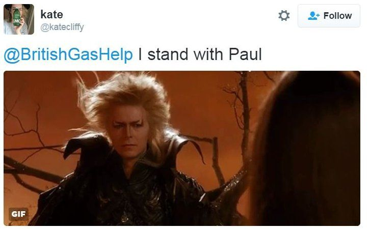 Tweet : I stand with Paul