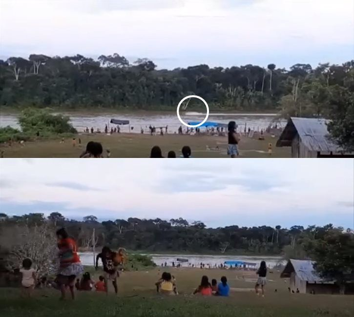Screengrabs of video of attack shared by the Hutakara Association