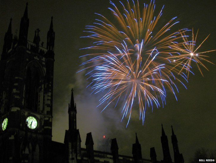 Fireworks in Newcastle upon Tyne