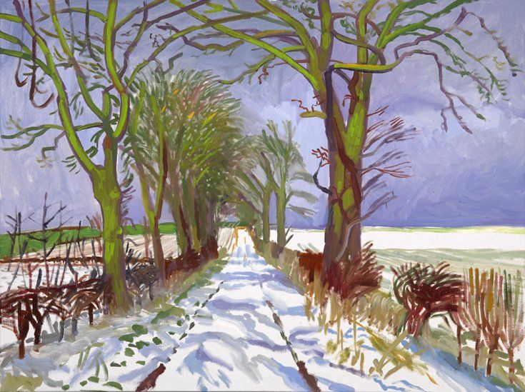 Winter Tunnel with Snow, March, 2006 by David Hockney