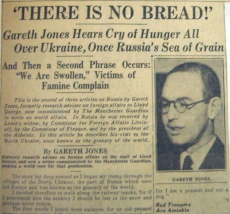Статья Гарета Джонса о голоде на Украине