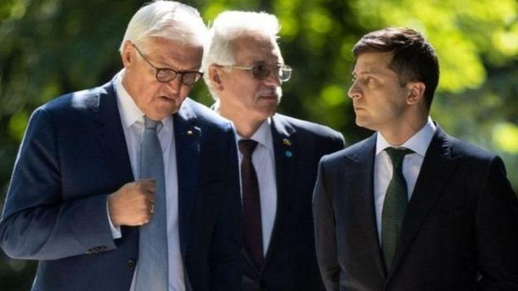 Франк-Вальтер Штайнмайер и Владимир Зеленский в Берлине