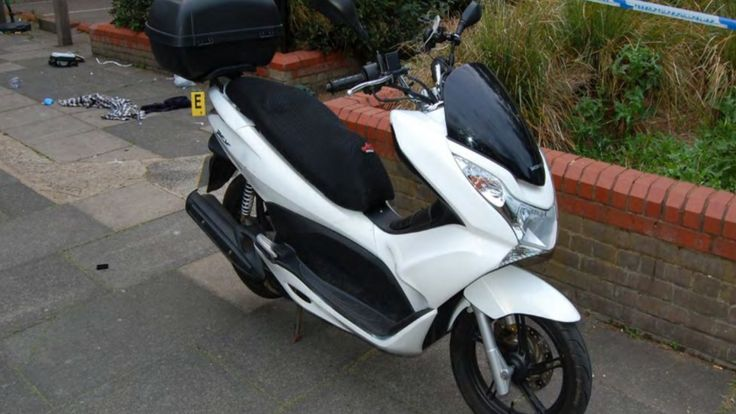 Handout photo issued by the Crown Prosecution Service of a scooter belonging to Iderval Da Silva,