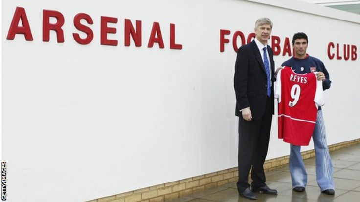 Jose Antonio Reyes and Arsene Wenger