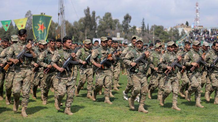Парад курдских отрядов народной самообороны, Камышлы, 28 марта 2019