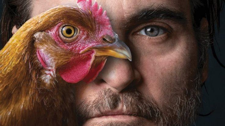 Joaquin Phoenix in a Peta campaign against poultry consumption