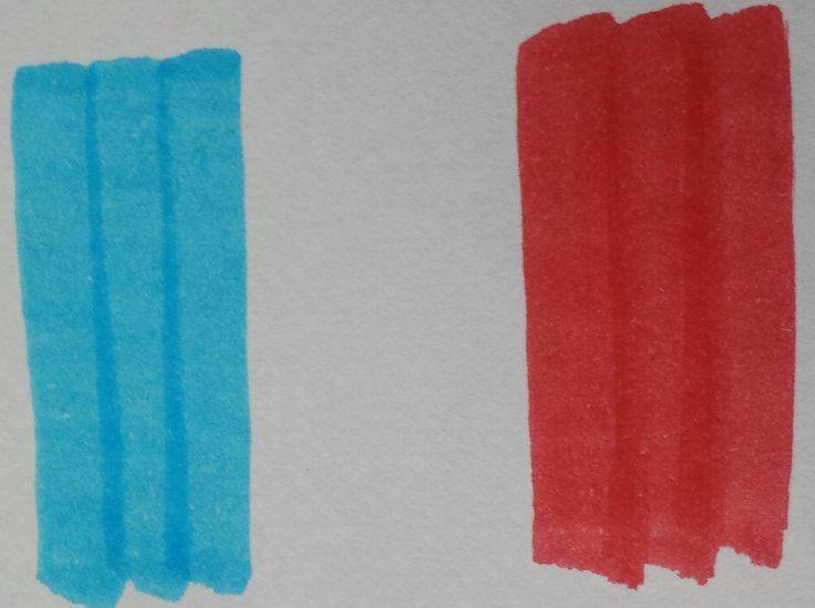 French flag in felt tip