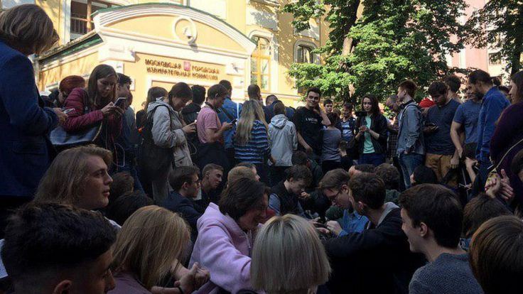 Сидячая забастовка у Мосгоризбиркома