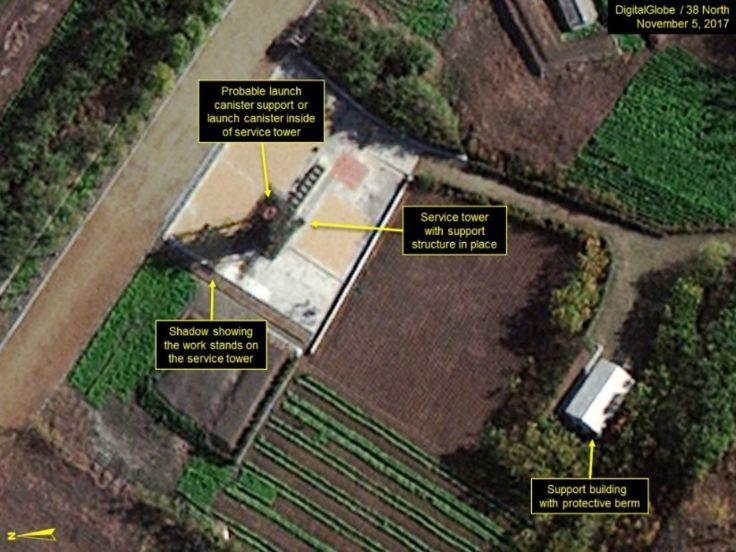 Movimentação em área de estaleiro, também mostrada pelo satélite, é um dos pontos que levantam suspeitas sobre intenções da Coreia do Norte