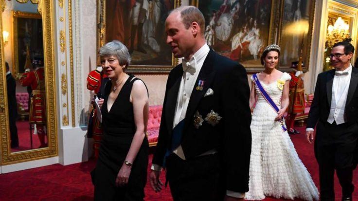 тереза мэй и принц уильям, герцогиня Кембриджская и министр финансов США Стивен Мнучин