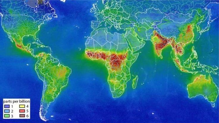 விண்வெளியிலிருந்து பார்க்கும்போது இந்தியாவின் காற்று ஏன் வித்தியாசமாக தெரிகிறது?