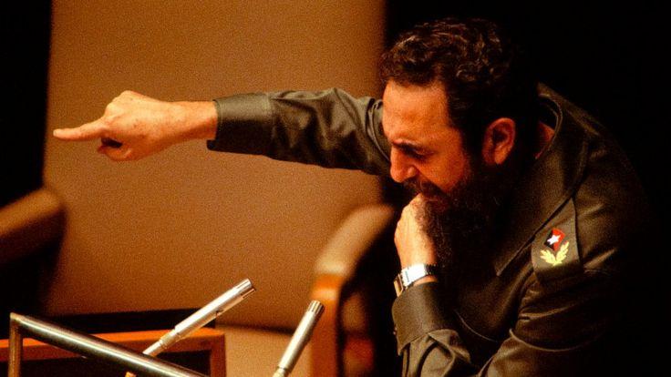 Кастро выступает перед 34-й Генеральной Ассамблеей ООН (Нью-Йорк, 12 октября 1979 г.)