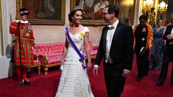 герцогиня Кембриджская и Стивен Мнучин