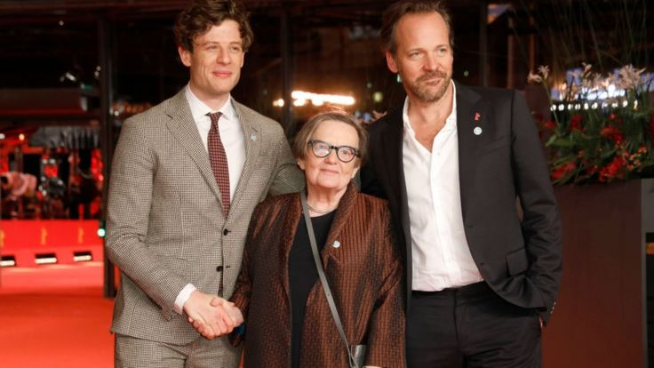 Джеймс Нортон, Агнешка Холланд и Питер Сарсгаард перед мировой премьерой
