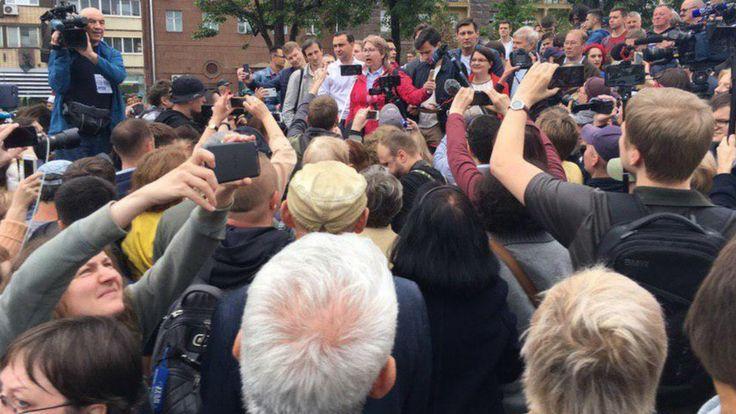 Акция в поддержку оппозиционных кандидатов в Мосгордуму началась в Москве