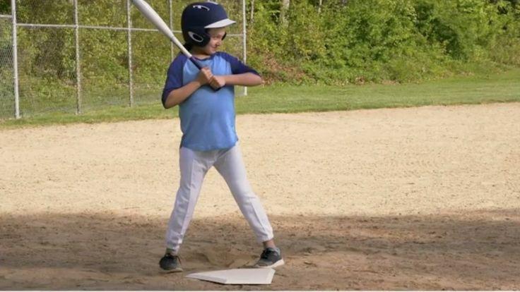 Girl playing baseball, fixed