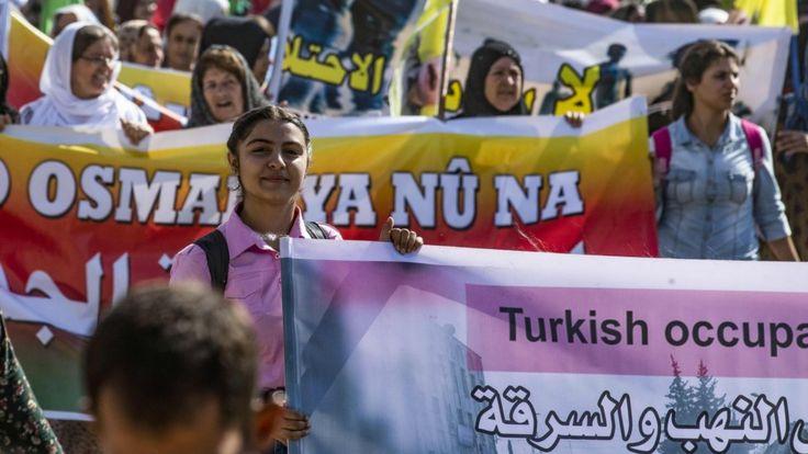 Сирийские курды протестую против планов Турции создать