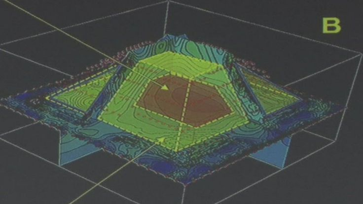 3D Imaging of the discovery within the famous Kukulkan pyramid at Chichen Itza. Image Courtesy of the British Broadcast Channel.