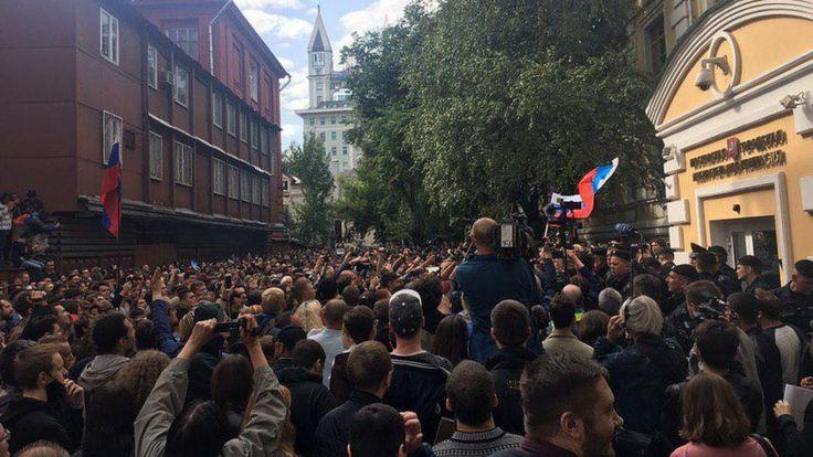 акция оппозиции у Мосгоризбиркома