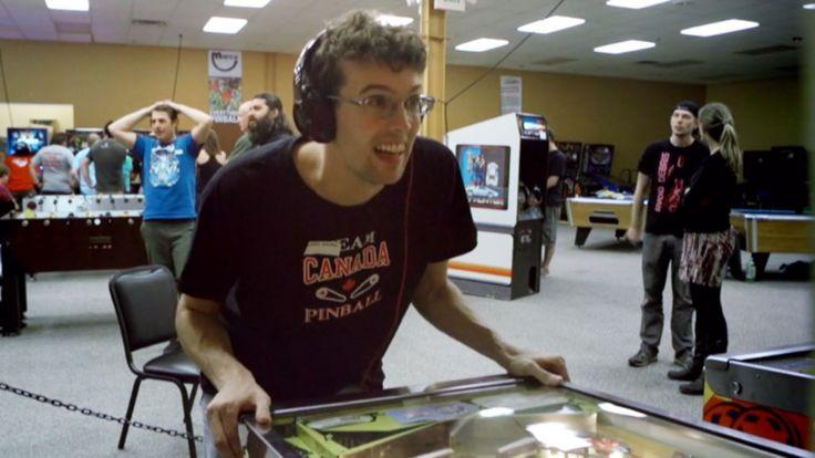 Robert Gagno playing pinball