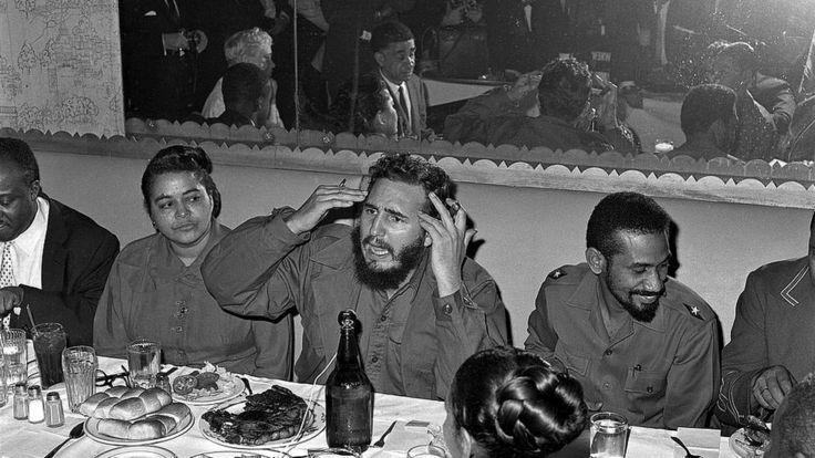 Сентябрь 1960 г. Пресс-конференция Кастро в отеле