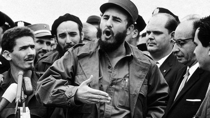 Кастро разговаривает с репортерами после заседания Генеральной Ассамблеи ООН (28 сентября 1960 года)