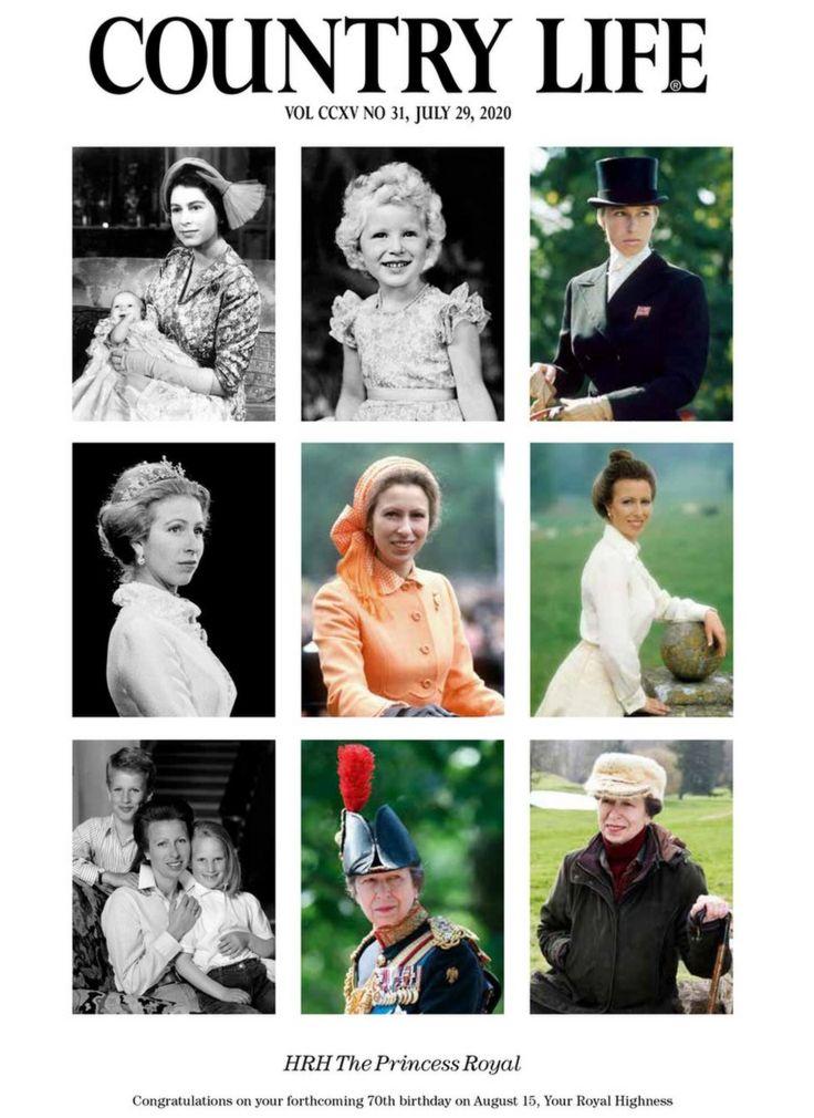 Обложка журнала Country Life с фотографиями принцессы с детства до 2020 года