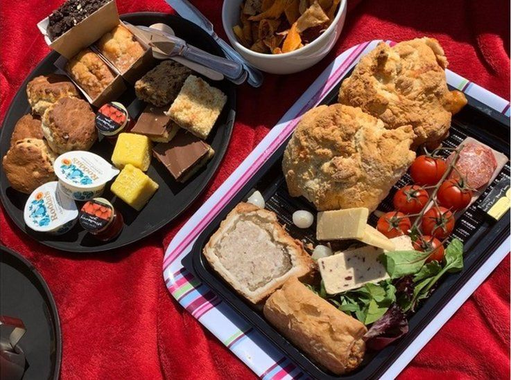 Kerry Real said her cream tea and ploughman's lunch was a family treat