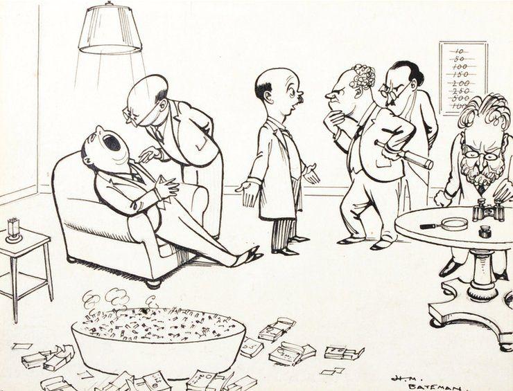 The HM Bateman cartoon