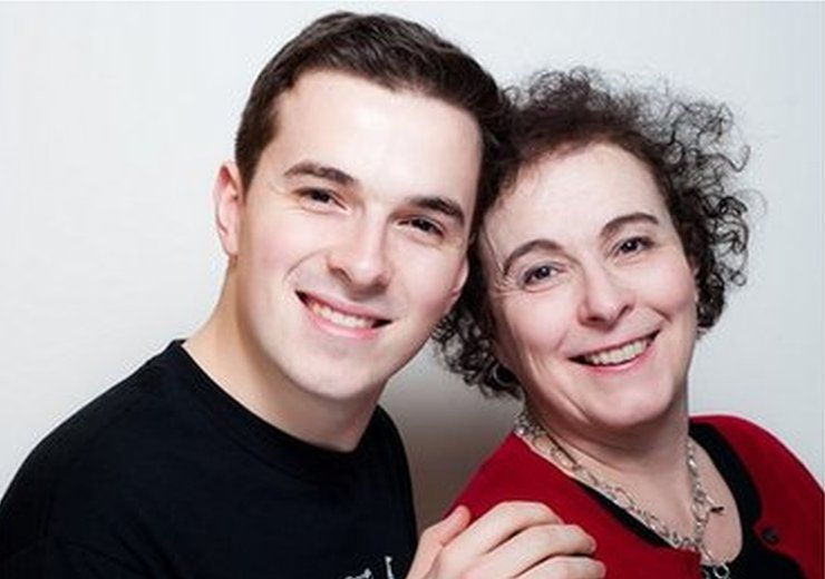 Photograph of Jack Ritchie and his mum Liz
