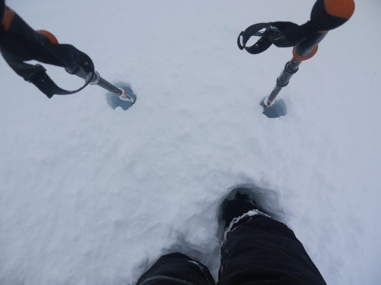 Deep snow at Creag Meagaidh