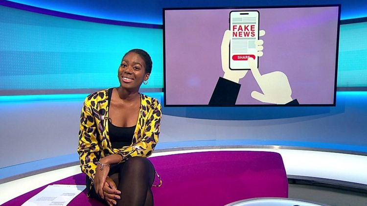 Shanequa in the Newsround studio
