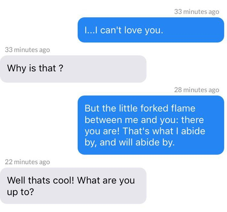 Lady Chatterley Tinder chat