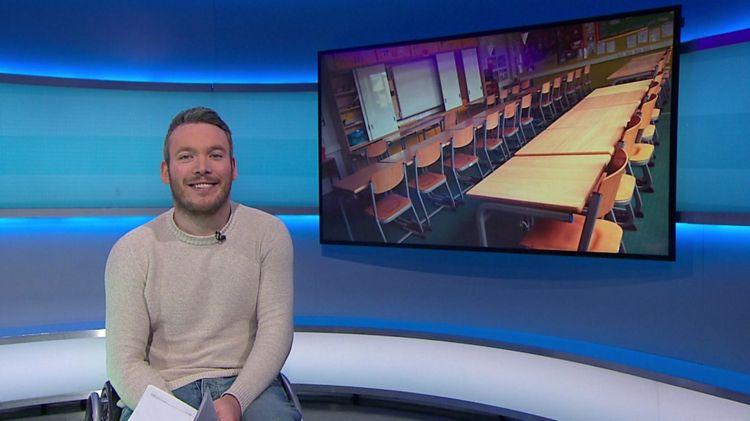 Martin in the Newsround studio