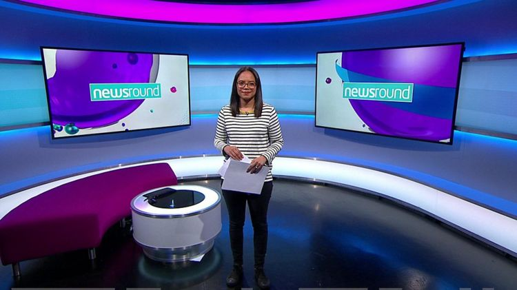 Leah in the Newsround studio