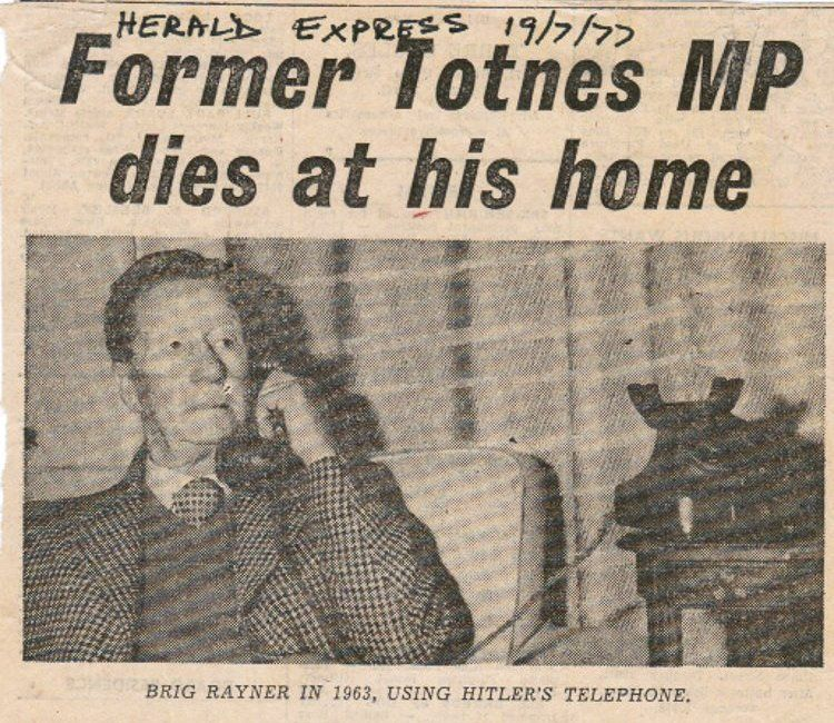 Sir Ralph's obituary in the local paper ran with a picture of him and the phone, taken in 1963