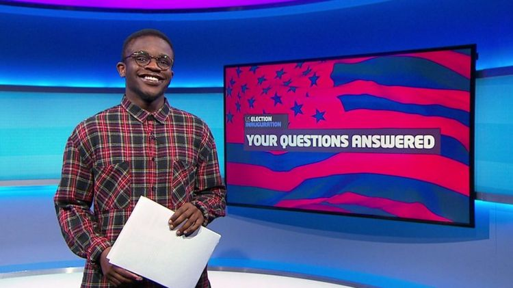 De'Graft on the Newsround set