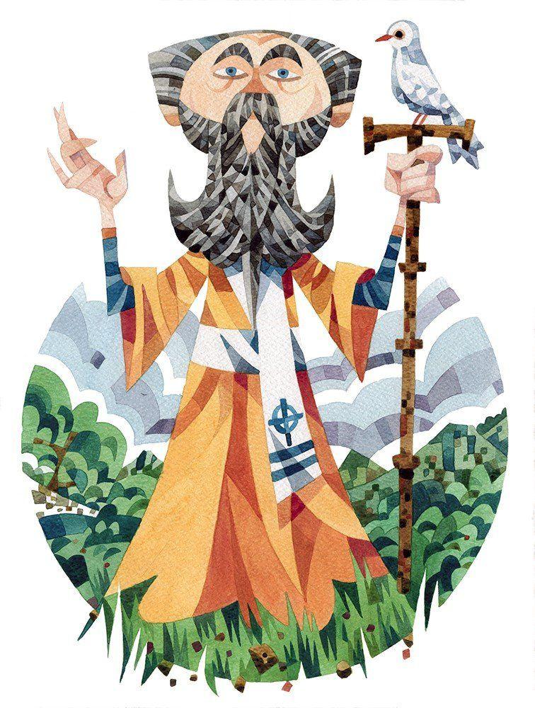 illustration of St David