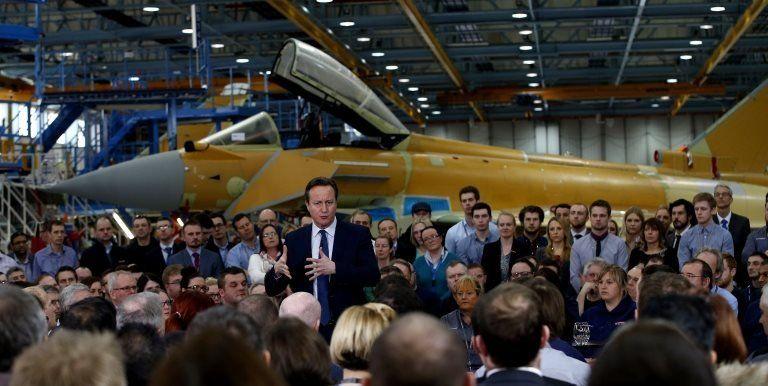 David Cameron at BAE factory
