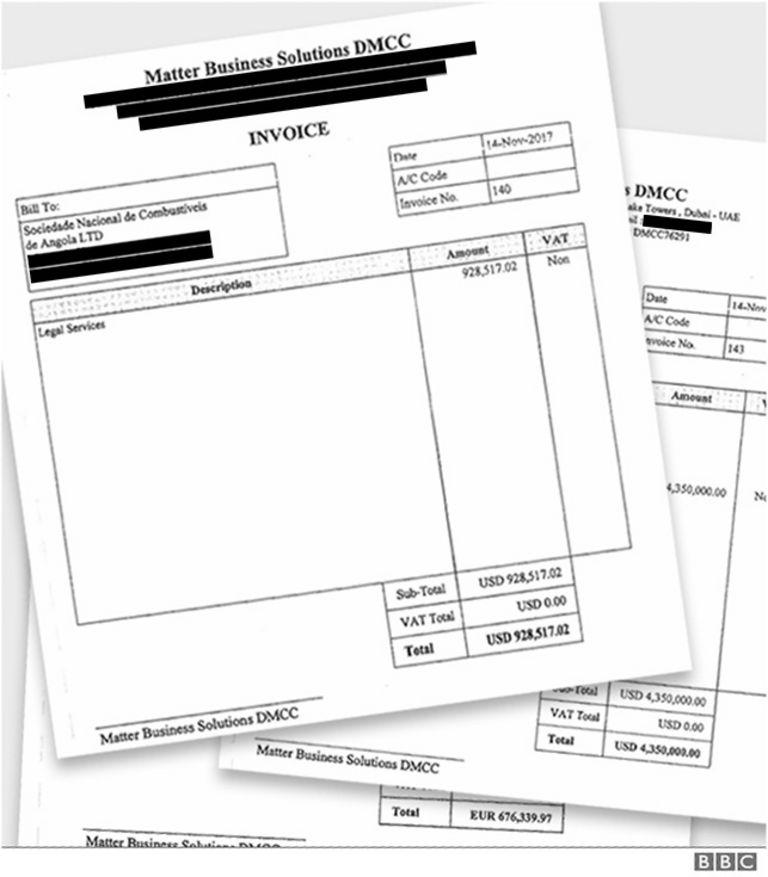 Счета на оплату услуг Matter Business Solutions