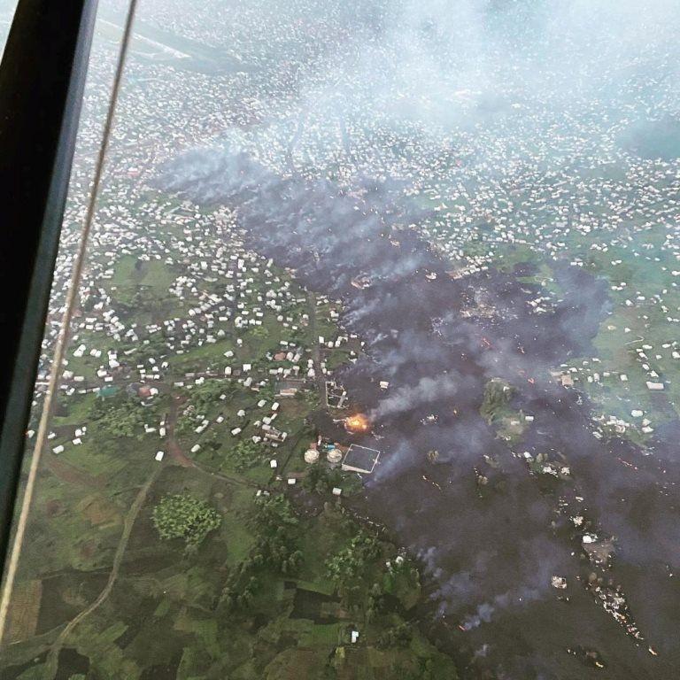 Mount Nyiragongo volcano eruption in Goma, Democratic Republic of Congo May 23, 2021