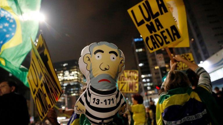 Ato contra Lula na avenida Paulista, em São Paulo