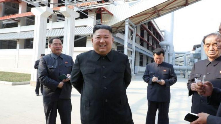 Hình ông Kim Jong-un do KCNA công bố ngày 2/5